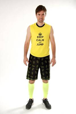 "Tielko ""KEEP CALM and JUMP"" žlté"